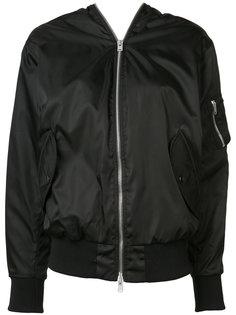 double zip bomber jacket Yang Li
