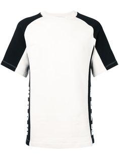 футболка с полосами по бокам MSGM