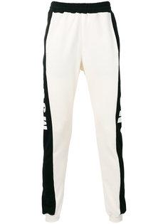 спортивные штаны с полосами по бокам MSGM