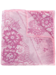 шарф с цветочным принтом Emanuel Ungaro