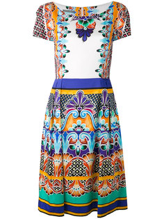 платье с узорами Alberta Ferretti