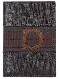 кошелек с фактурной выделкой и логотипом Salvatore Ferragamo