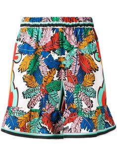 шорты с эластичным поясом и принтом  Emilio Pucci