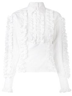 блузка с отделкой рюшами Dolce & Gabbana