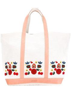 сумка-тоут с вышивкой и кожаной отделкой Vanessa Bruno