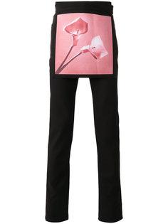 джинсы скинни с накладной панелью Raf Simons