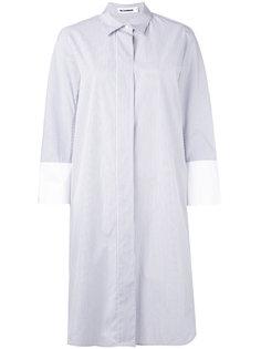 полосатое платье-рубашка Jil Sander