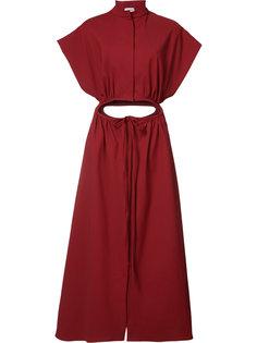 платье с резной затяжкой на талии Rosie Assoulin