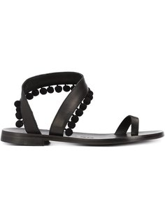 сандалии с помпонами Angela Álvaro