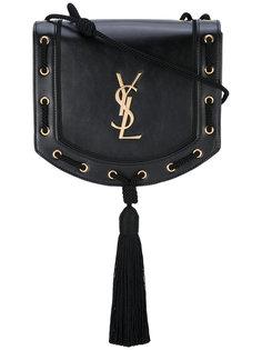 сумка через плечо с плетеной кисточкой Saint Laurent