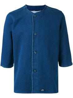джинсовая рубашка без воротника Bleu De Paname
