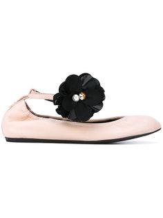 балетки с цветочным украшением Lanvin