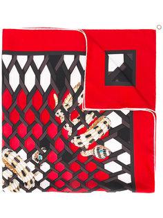 платок с абстрактным принтом Bulgari