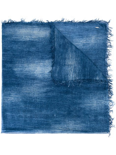 шарф с принтом тай-дай и необработанным краем Dondup