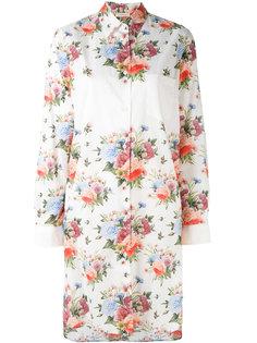 удлиненная рубашка с цветочным принтом Wunderkind
