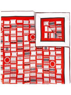 шарф с узором в логотипы Bulgari