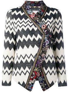 пиджак с принтом зигзаг и цветочным узором  Bazar Deluxe