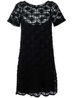 платье-шифт с вышитым цветочным узором D.Exterior