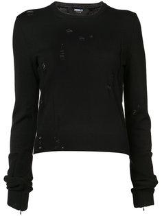 свитер с потертым декором Yang Li
