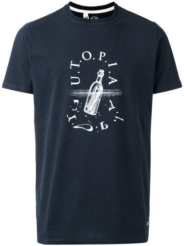футболка с принтом бутылки Bleu De Paname