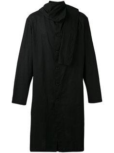 пальто миди с шарфом Yohji Yamamoto