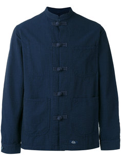 рубашка с воротником-мандарин Bleu De Paname