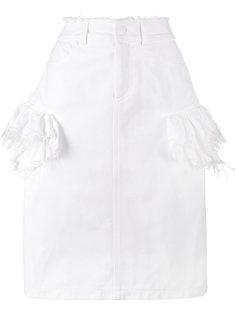 джинсовая юбка с рюшами Preen By Thornton Bregazzi