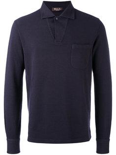рубашка-поло с воротником без застежки Loro Piana