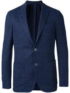 тканый пиджак  Lardini