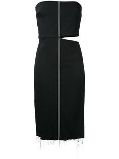 stretch crepe strapless dress Bassike