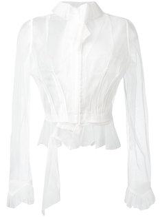 полупрозрачная блузка с оборками Maison Margiela