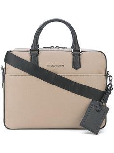 портфель со съемной лямкой на плечо Emporio Armani