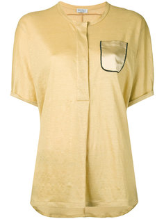 рубашка с короткими рукавами и нагрудным карманом  Brunello Cucinelli