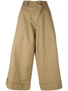 широкие укороченные брюки  Monse