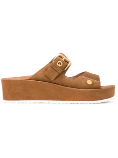 сандалии на платформе с пряжками Car Shoe