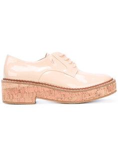лакированные ботинки на платформе Armani Jeans
