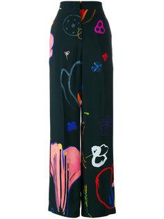 широкие брюки с абстрактным принтом Paul Smith
