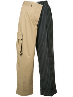 pinstripe cargo trousers Monse