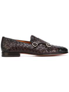 плетеные туфли-монки Santoni