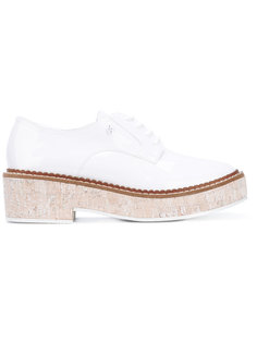 ботинки со шнуровкой на платформе Armani Jeans