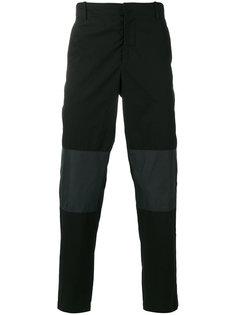 брюки с контрастными вставками в тон McQ Alexander McQueen