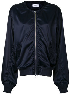 collarless bomber jacket  En Route