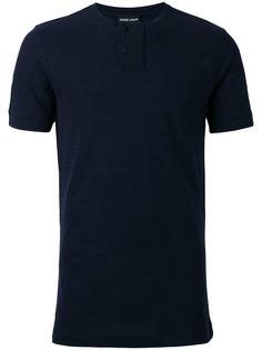 футболка-поло без воротника Giorgio Armani