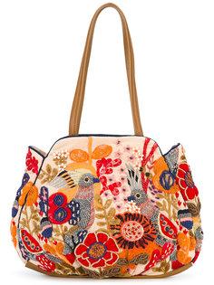 сумка-тоут с вышивкой Jamin Puech