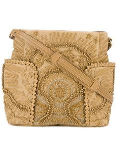 сумка на плечо с кожаной аппликацией  Jamin Puech