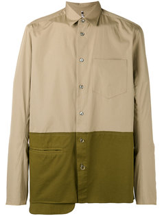 asymmetric colour block shirt Oamc