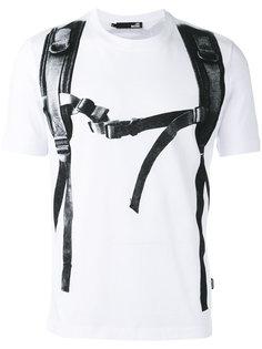 футболка с принтом лямок на плечах Love Moschino