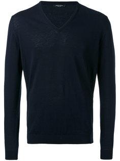 свитер V-образным вырезом Roberto Collina