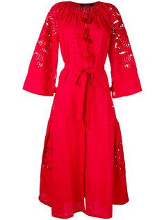 платье с запахом и перфорацией Vita Kin
