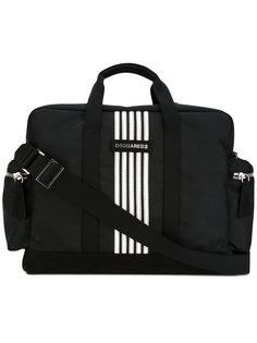 дорожная сумка с контрастными полосками Dsquared2
